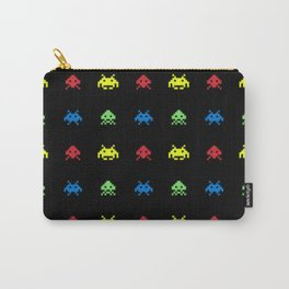 space aliens invaders stylish gamer art Carry-All Pouch