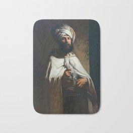 Louis Gallait - Portrait du peintre et graveur Charles Cousin en costume arabe Bath Mat