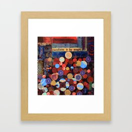 Eye Transform By Magic Framed Art Print