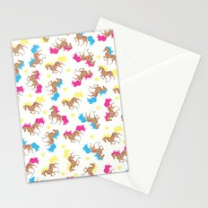 Retro horse pattern Stationery Cards