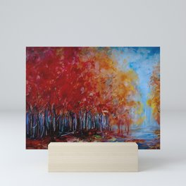 Red Fall Forest Panorama Mini Art Print