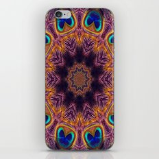 Peacock Fan Star Abstract iPhone & iPod Skin
