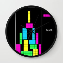 Level 1 black Wall Clock