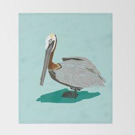 Mr. Pelican Throw Blanket