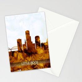 Little Rock Arkansas Skyline Stationery Cards