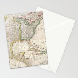 Vintage Map of North America (1794) Stationery Cards