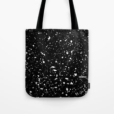 Retro Speckle Print - Black Tote Bag