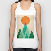 mountains Tank Tops featuring No mountains high enough by Picomodi