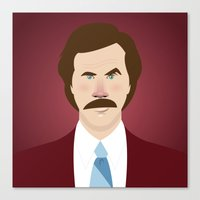 will ferrell Canvas Prints featuring Anchorman by Brettmatic