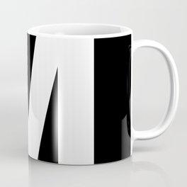 Letter M (White & Black) Coffee Mug