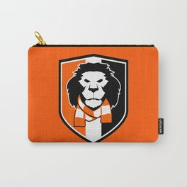 Lion logo - shield, orange background Carry-All Pouch