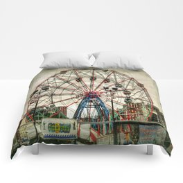 Coney Island Wonder Wheel Comforters