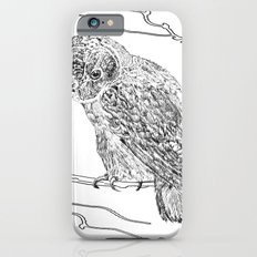 Owl In Tree (Print) iPhone 6s Slim Case