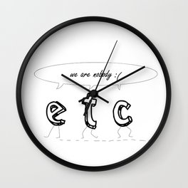 085 ETC Wall Clock