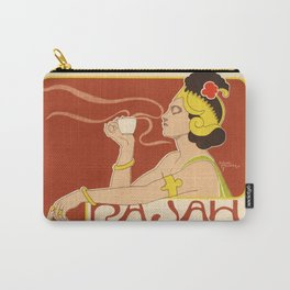 Belle Epoque vintage poster, Rajah Tea Carry-All Pouch