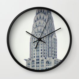Chrysler Building from Roosevelt Island Wall Clock