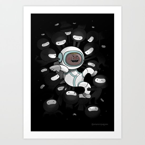Space is full of ninjas Art Print