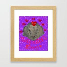 Happy Valentine! Framed Art Print