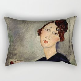 "Amedeo Modigliani ""Portrait of Dedie"" Rectangular Pillow"