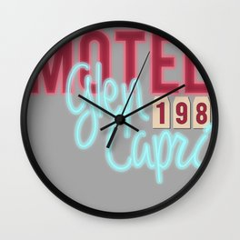 Teen wolf - Glen Capri motel Wall Clock