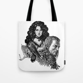 Geralt and Yennefer-Witcher Tote Bag