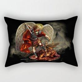 St. Michael Archangel vs th Devil Rectangular Pillow