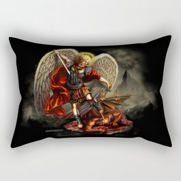 Saint Michael Archangel against the Devil Rectangular Pillow