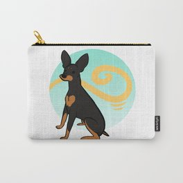 Black&Tan MinPin Carry-All Pouch
