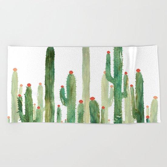 Cactus Four Beach Towel