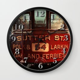 S.F. Cable Car Wall Clock