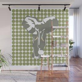 Green Safari Dot with Pop Art Elephant Wall Mural