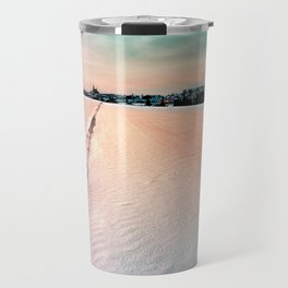 The field and the village Travel Mug