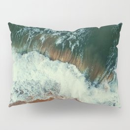 aerial view of seashore at daytime Pillow Sham