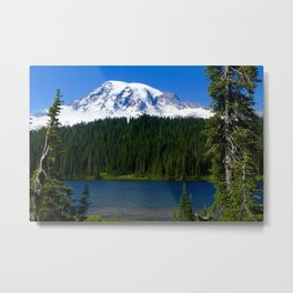 Mount Rainier Lake Metal Print