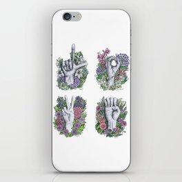 LOVE ASL Art- square version iPhone Skin