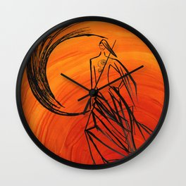 Angel under cover Wall Clock
