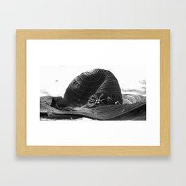 Beach Hat Framed Art Print