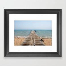 BEACH DAYS 44 - Bridge Framed Art Print