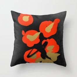 Flower(Tsubaki) Throw Pillow