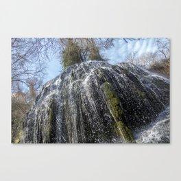 Waterfall trinidad in the stone monastery, Spain Canvas Print