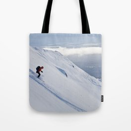 Skiers at Hatcher Pass (2) Tote Bag
