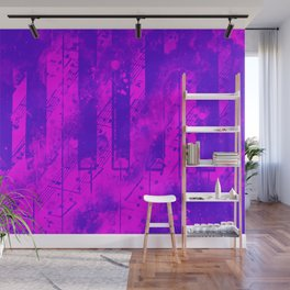 piano keys and music sheet pattern wslp Wall Mural