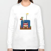 mario Long Sleeve T-shirts featuring Mario by Ryan Miller