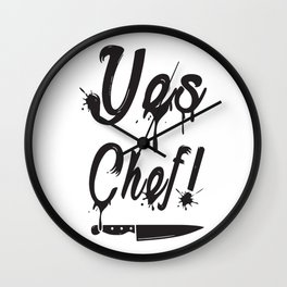 Yes Chef Wall Clock