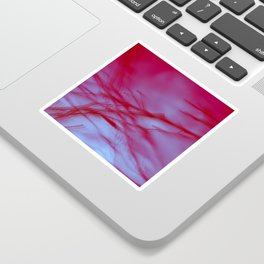 Pink Tree Blur Sticker