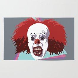 Evil clown it halloween Rug