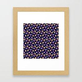 Freely Birds Flying - Fly Away Version 2 - Night Color Framed Art Print