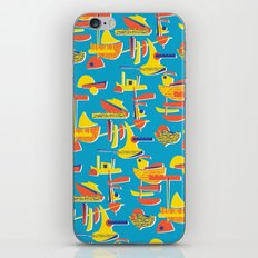 Abstract Boats 1 iPhone & iPod Skin