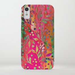 Tropical Summer colorful botanical pattern iPhone Case