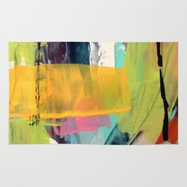 Hopeful[2] - a bright mixed media abstract piece Rug